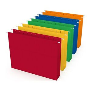 Myofficeinnovations Hanging File Folders 5 tab 2 Expansion Letter Sz Asst