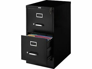 Myofficeinnovations 2 drawer Vertical File Cabinet Locking Letter Black 22 d