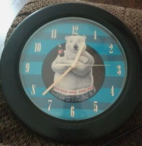 Black And Blue Coca Cola Clock