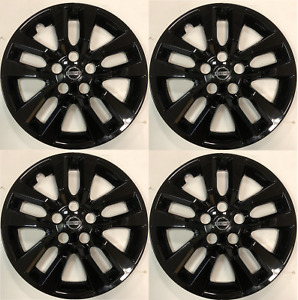 4 New 16 Gloss Black Hub Cap Wheelcover That Fit 2007 2018 Nissan Altima