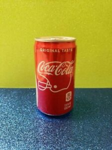 COCA COLA FOOTBALL HELMET GAME MINI CAN SODA SHARE A COKE WITH A #1 FAN SEALED