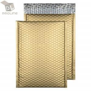 1 200 2 8 5x12 Matte Metallic Gold Color Poly Bubble Padded Mailers
