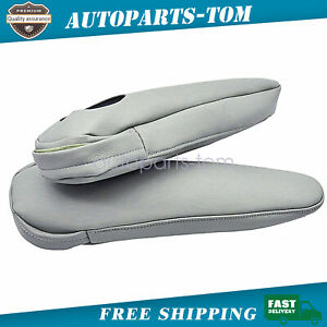 Front Seat Armrest Cover Leather Synthetic For Toyota Sienna 2011 2017 2016 Gray