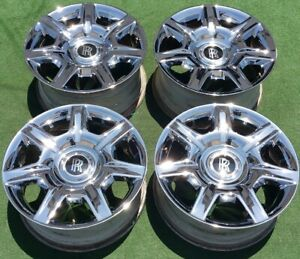 Factory Chrome Rolls Royce Ghost Wheels Set 4 Genuine Original Oem 20 In Wraith
