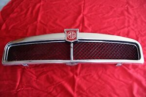 Mgb Front Chrome Grill Assembly With Red Badge