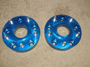 2 Spidertrax Offroad 1 5 Wheel Spacers Anodized Blue Whs114 13 0615