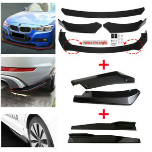 Side Skirt Rear Lip Front Bumper Spoiler Body Kit Universal