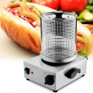 Commercial Hot Dog Steamer Warmer Cooker Machine Bun Food Electric Countertop Us
