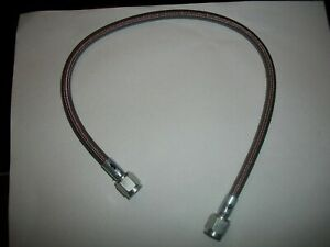 Fmr Stainless Steel Braided Brake Line 4 An X 18 With Straight Swivel Ends