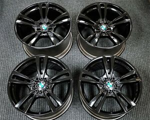 4 Factory Bmw X5m X6 X6m 20 Oem Staggered Wheels Black Rims