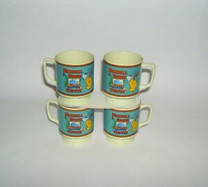 VTG MAXWELL COFFEE CAN LABEL LOGO GLASS DRINK FOOTED PEDESTAL CUP MUG