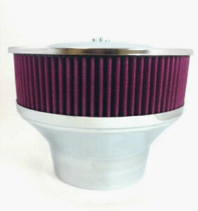 Velocity Stack Air Cleaner 9 Washable Element 5 1 8 Neck 4 1 4 Adapter R2105
