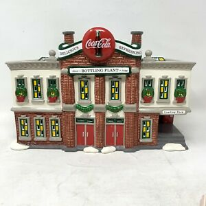 Dept. 56 Snow Village Coca Cola Bottling Plant  Retired Rare Vintage Building