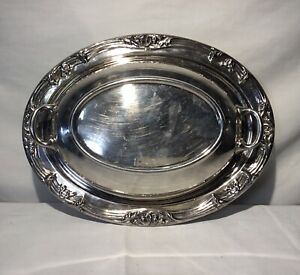 Silver Plate 11 5 X 8 3 4 X 3 5 Oval Lidded Casserole Serving Dish With Cover