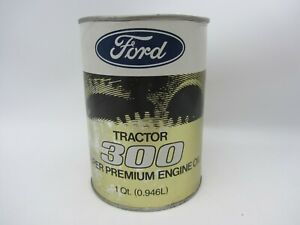 VTG FORD TRACTOR 300 SAE 10W MOTOR ENGINE OIL CARDBOARD 1 QUART CAN EMPTY