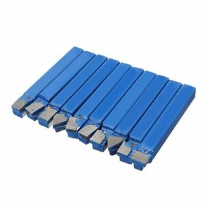 10pcs Blue Carbide Lathe Bits 1 4 High Quality Metal Tip Cutter Tool Bit Set