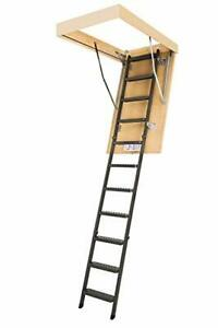 Fakro Lms 66869 Insulated Steel Attic Ladder For 30 inch X 54 inch Rough Openin