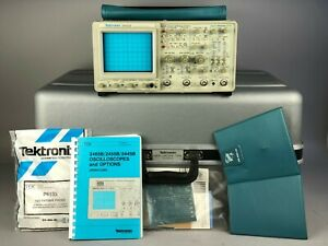 Tektronix 2445b 150mhz Oscilloscope With Case Pouch Manuals 2 P6133 Probes