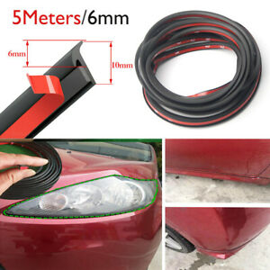 5 Meter Sealing Strip T Type Rubber For Car Edge Trim Bumper Side Skirt