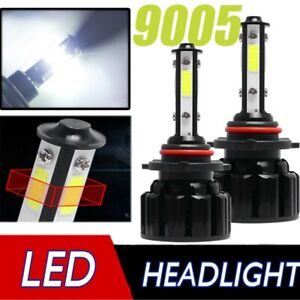 Pair 4 sides Led Headlight Kit 9005 Hb3 4 Sides Upgrate Hight Beam Fog Headlamp