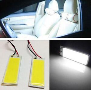 2x White 36 Smd Panel Led Festoon T10 Ba9s Adapter Interior Dome Map Light Bulbs
