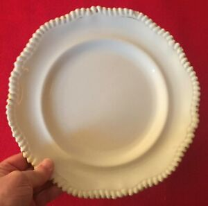 Antique 19th C Copeland Porcelain White Creamware Dinner Plate Service Charger