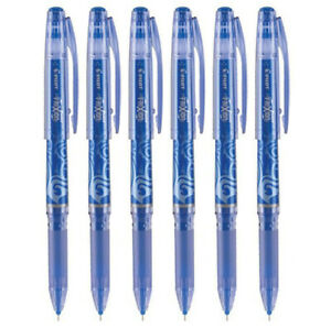 Pilot Frixion Point Gel Stick Pen Extra Fine Point 0 5mm Blue Ink 6 Count