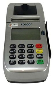First Data Fd100ti Touch Screen Dial ip Credit Card Machine