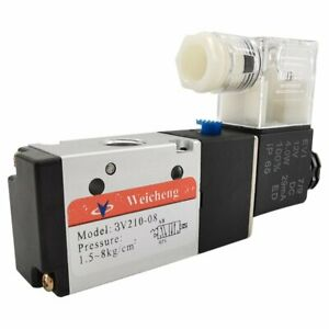 1 4in Pneumatic Electric Solenoid Valve 3 Way 2 Position Closed Dc 12v Air Npt
