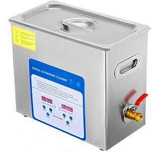 316 Stainless Steel 6l Ultrasonic Cleaner Stainless Steel Heater W ball Basket