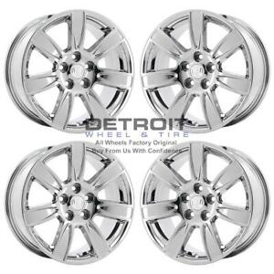 18 Buick Lacrosse Pvd Bright Chrome H 4 Wheels Rims Factory Oem 4096 2010