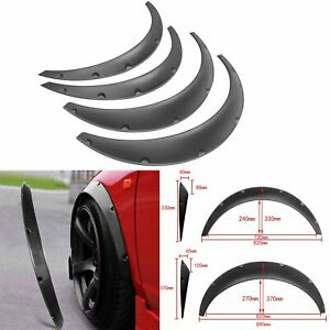 4x 820mm 890mm Universal Flexible Car Fender Flares Extra Wide Body Wheel Arches