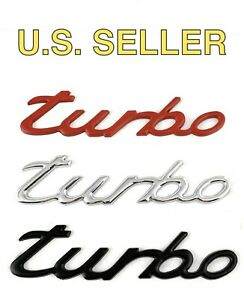 2002 2020 Metal Turbo Rear Trunk Emblem For Porsche Red Chrome Or Matte Black