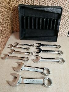 9 Pc 12 Point Metric Flank Drive Short Stubby Combo Wrench Set 10 19 Missing 14