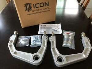 Icon 58570 Billet Upper Control Arm Kit For 2008 18 Toyota Land Cruiser 4wd 2wd