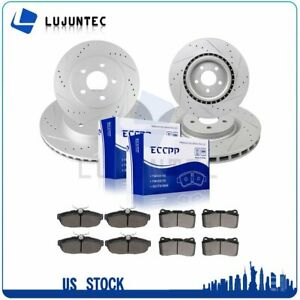 Front Rear Brake Rotors And Metallic Pads For 2011 2012 2013 2014 Ford Mustang