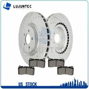 Front Drill Slot Brake Discs rotors Pads For 2007 2013 2014 Ford Mustang