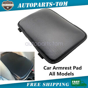 Pu Universal Car Armrest Pad Center Console Cushion Mat Cover Protector Black