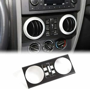 Dashboard Central Control Switch Panel Trim Cover For Jeep Wrangler 2007 2010 Jk