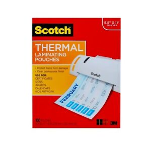 Thermal Laminating Pouches Letter Size Sheets 100 Count 8 5 X 11 3 Mil Thick