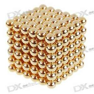 4 7mm Neodymium Nib Magnet Spheres With Steel Case Gold 216 piece Pack Toy
