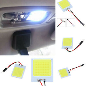 48 Smd Cob White Panel Led T10 Car Interior Panel Light Dc 12v Dome Lamp Bulb 4w