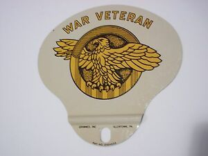 Vintage License Plate Topper Rare War Veteran