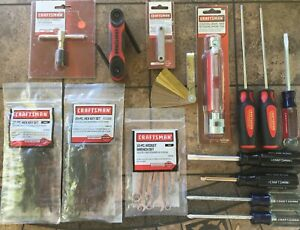 62 Piece Craftsman Ass T Tools Usa China Made Tools Ignitions Hex Tap Gages