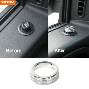 Release Mirrors Adjustment Switch Knob Ring Trim For Ford F150 2009 2014 Silver