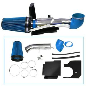 4 Cold Air Intake Kit Heat Shield For Gmc Chevy V8 4 8l 5 3l 6 0l Blue