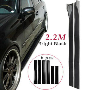 86 6 For Universal Car Side Skirt Extension Rocker Panel Body Kit Lip Splitters