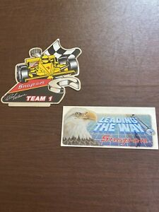 2 Vintage Snap On Tools Racing Team 1 American Eagle Tool Box Sticker Decal New