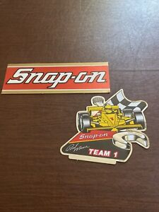 2 Vintage Snap On Tools Racing Team 1 Bill Elliot Tool Box Sticker Decal New