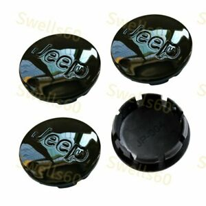 4 Pcs Jeep Wheel Center Hub Cap Black Mirror 55mm 2 2 Fit 2002 2011